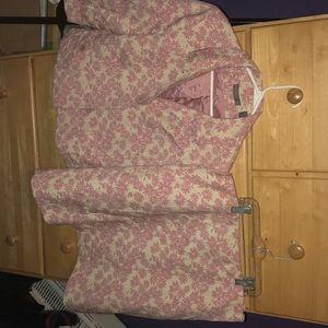 Floral Pink Women's Blazer/Skirt Set